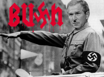 Image result for bush Hitler